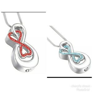 Jewelry - Love heart Infinity cremation urn necklace
